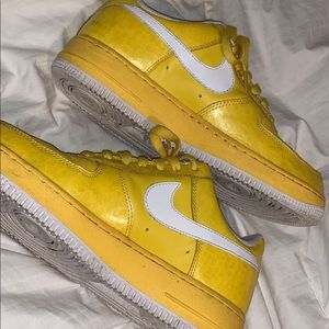 Yellow Air Force 1s